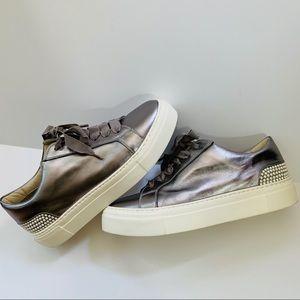 AGL Attilio Giusti Leombruni Silver Sneakers